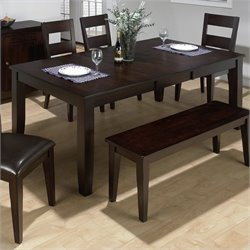 Jofran 972 Series Rectangular Dining Table in Dark Rustic Prairie
