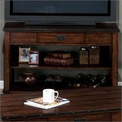 Jofran Sofa Table TV Stand in Cassidy Brown Finish