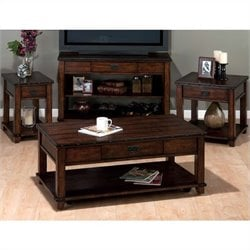 Jofran 4 Piece Occasional Table Set in Cassidy Brown