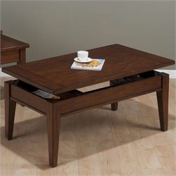 Jofran Lift Top Coffee Table in Dunbar Oak Finish