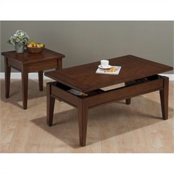 Jofran 2 Piece Occasional Table Set in Dunbar Oak