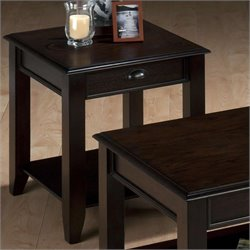 Jofran End Table in Bartley Oak Finish