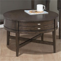 Jofran Miniatures Round Coffee Table in Antique Gray Ash