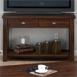 Jofran Sofa Table TV Stand in Urban Lodge Brown