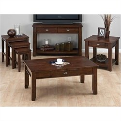 Jofran 4 Piece Occasional Table Set in Urban Lodge Brown