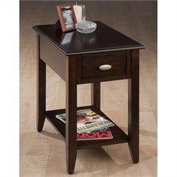 Jofran Chairside Table in Merlot Finish
