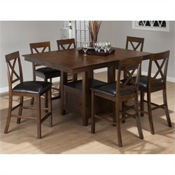 Jofran Counter Height Dining Set in Olsen Oak