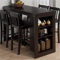 Jofran Counter Height Table with Storage in Maryland Merlot