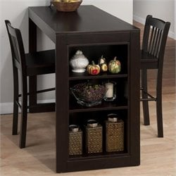 Jofran 3 Piece Counter Height Storage Dinette in Maryland Merlot