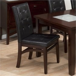 Jofran Tufted Parson Dining Chair in Chadwick Espresso (set of 2)