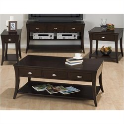 Jofran 629 Series 4 Piece Coffee Table Set in Manhattan Espresso