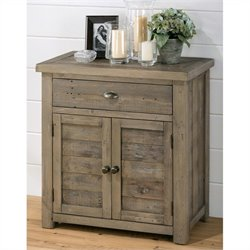 Jofran 940 Series Accent Chest with French Style Doors in Slater Mill Pine