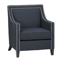 Jofran Upholstered Indigo Luca Accent Club Chairs in Blue