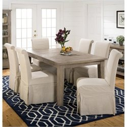 Jofran 941 Series 7-Piece Dining Table Set in Slater Mill Pine