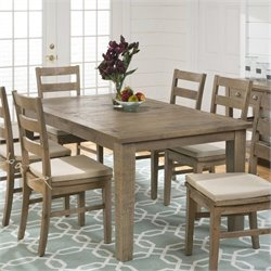 Jofran 941 Series Dining Table with Extension Leaf in Slater Mill Pine