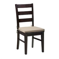 Jofran Prospect Creek Ladderback Dining Chair in Dark Wood (Set of 2)