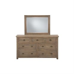 Jofran Slater Mill 7 Drawer Dresser in Reclaimed Pine