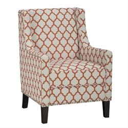 Jofran Jeanie Accent Chair in Chic White and Persimmon
