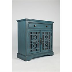 Jofran Craftsman One Drawer Accent Chest in Antique Blue