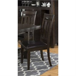 Jofran Kona Grove Slatback Dining Chair in Deep Chocolate (Set of 2)