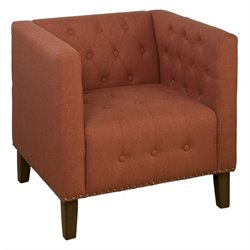 Jofran Zoe Tufted Accent Chair in Mango