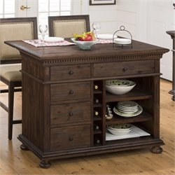 Jofran Geneva Hills Wood Kitchen Island