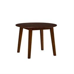 Jofran Simplicity Wood Round Dropleaf Dining Table in Caramel