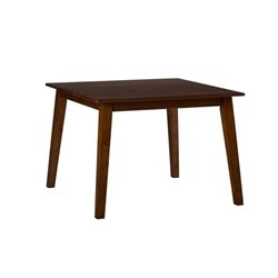 Jofran Simplicity Wood Square Dining Table in Caramel
