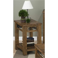 Jofran San Marcos Wood Rectangle Accent Table in Pine