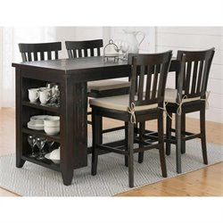 Jofran Slater Mill Counter Height Dining Set in Dark Brown