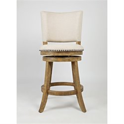 Jofran Turners Landing St. James Swivel Bar Stool in Brown (Set of 2)