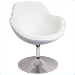 Lumisource Saddlebrook Egg Chair in White