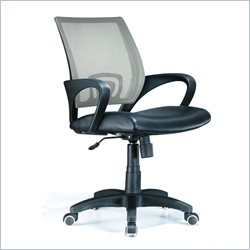 Lumisource Officer Office Chair in Silver