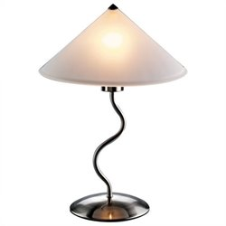 Lumisource Doe Li Touch Lamp in Brushed Satin