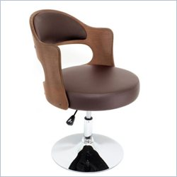 Lumisource Cello Chair in Walnut and Brown