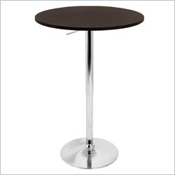 Lumisource Adjustable Bar Table with Brown Top