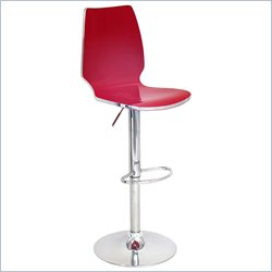 Lumisource Danata Bar Stool in Red
