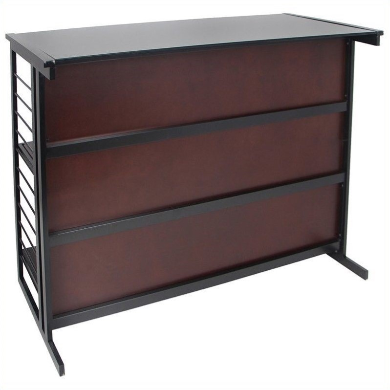 Lumisource fuji home bar in espresso and black bt fuji - Table basse bar wenge ...