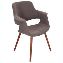 Lumisource Vintage Flair Dining Chair in Brown