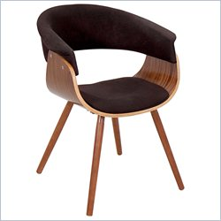 Lumisource Vintage Mod Dining Chair in Walnut and Espresso