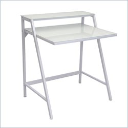 Lumisource 2-Tier Desk in White