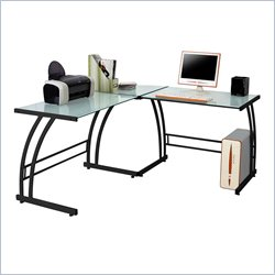 Lumisource Gamma Corner Workstation in Black
