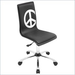 Lumisource Printed Office Chair in Black