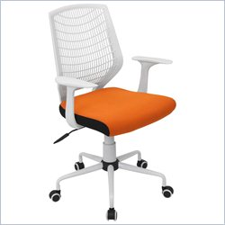 Lumisource Network Office Chair in White and Orange