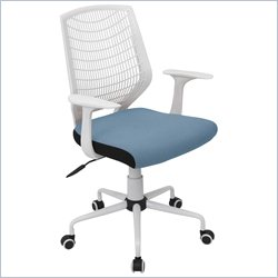 Lumisource Network Office Chair in White and Smoked Blue