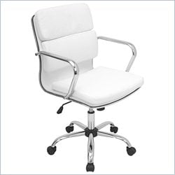 Lumisource Bachelor Office Chair in White