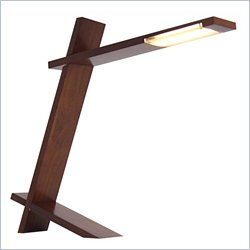 Lumisource LED Wood Plank Lamp in Walnut