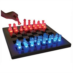 Lumisource LED Glow Chess Set in Blue and Red