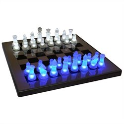 Lumisource LED Glow Chess Set in Blue and White
