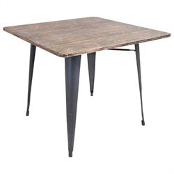 Lumisource Oregon Dining Table in Gray